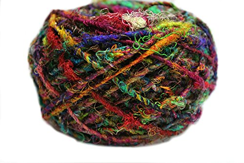 Knitsilk Recyceltes Sari-Seidengarn, mehrfarbig, 100 g