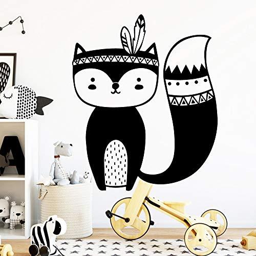 Tribal Animals ballon Bär Fuchs Pfeil Wandaufkleber wandaufkleber Vinyls Aufkleber Schlafzimmer dekor Kindergarten für kinderzimmer dekoration 43 * 52 cm