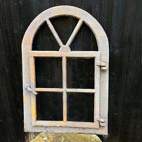Antikas | Stallfenster zum Öffnen | 57,5 cm x 39,5 cm | Gusseisen Fenster in antik-ländlichem Design