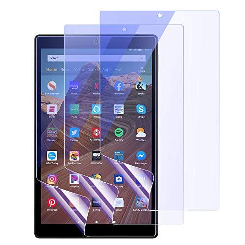 MoKo Blaulichtfilter Folie Kompatibel mit Das Neue Amazon Fire HD 10 Tablet (9. Gen 2019 und 7. Gen 2017 Model) / Kids Edition, 3 Stück Schutzfolie aus PET Augenschutz Bildschirmschutzfolie - Blau