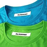 Wäscheetiketten (200) mit Namen mit und ohne Motiv zum Einbügeln Bügeletiketten Wäscheschilder Stoffetiketten Namensschilder Bügeln Beschriftung Wäsche 200 Stück (ohne Motiv)