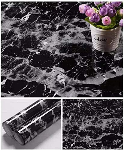 TJLMCORP- weiß-grauer Marmor-Kontakt-Papier-Tisch-Türaufkleber, selbstklebende Folie, abziehbare Tapete, glänzende Oberfläche, Regaleinlage, Möbel-Aufkleber 15.7''x78.7