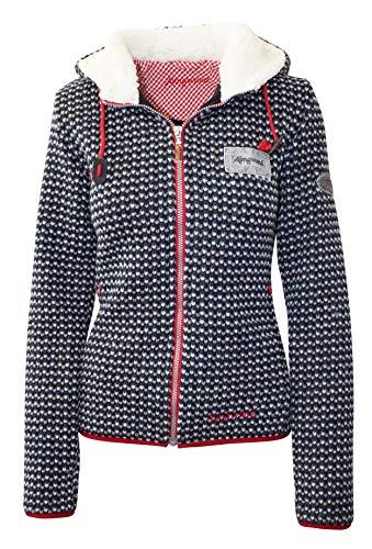 Almgwand dames maïskogel jas fleece jack fleece pullover nieuw