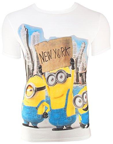 Camiseta de Minions New York, color blanco, Weiß, Medium