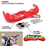 Motocross Handguards Dirt bike Hand guards 7/8 inches 22mm and 1 1/8 inches 28mm Plastic Universal For Honda CR CRF 125 250 300 CR125R CR250R CR500R CRF150R CRF150F Motorcycle Supermoto Dirtbike RED