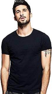 [DauStage] 2枚組 メンズ タイト 半袖 Tシャツ ボディーフィット Uネック Vネック ワイルド カットソー 無地 フィットネス 速乾 ドライ インナー 2枚セット