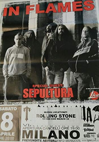 In Flames Special Guest Sepultura Milano Rolling Stones 08/04 Poster