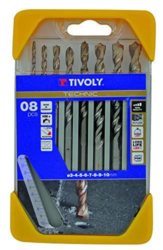 Bohrerschleifgerät B44–Pack von 8Bits für Beton, Gama Hochleistungs, Durchmesser von 3, 4, 5, 6, 7, 8, 9, 10mm