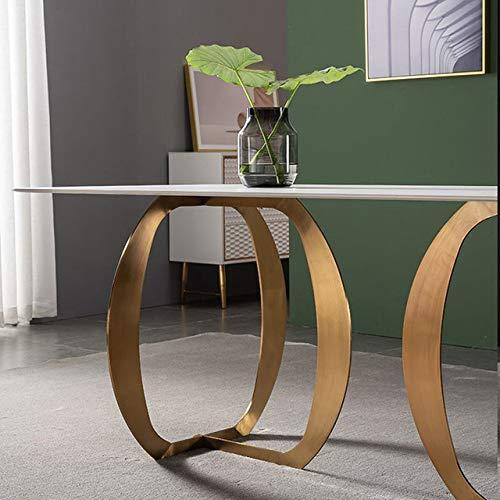 Eettafel LKU Lichte luxe leisteen eettafel rechthoekige marmeren eettafel moderne eenvoudige kleine eettafel appartement, 160x80x75 tafel