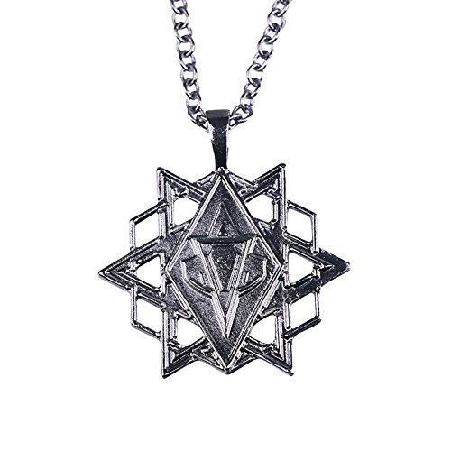 nihiug Assassins Creed Golden Apple Sterne Halskette Anhänger Eden Apple Halskette Spiel Cosplay,B-OneSize