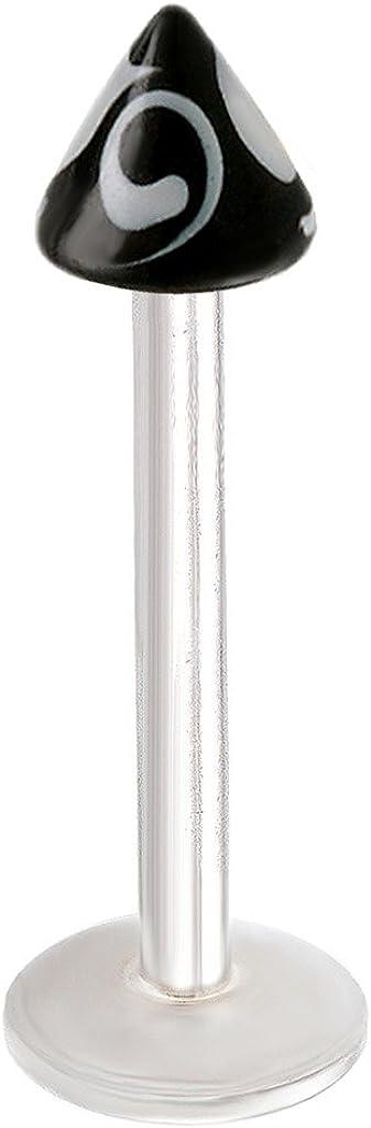 bodyjewellery Lip Jewelry 16g Labret Stud 1/2 Inch 12mm Surgical Steel Tragus Bar Ring Snake Bites Medusa Piercing More s