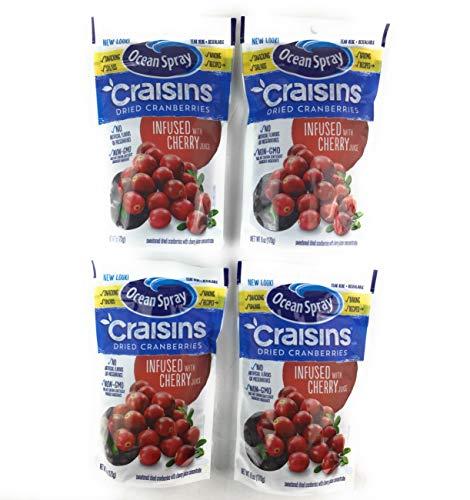 Ocean Spray Cherry Craisins 6 oz  4 Pack