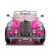 TOBBI Licensed Mercedes Benz 300s 12V Electric Kids Ride On Car, 2.4G Remote Control Motorized Vehicle with Single Seat, Head Lights, Music, Horn, FM, Safety Belt, Gift, Pink
