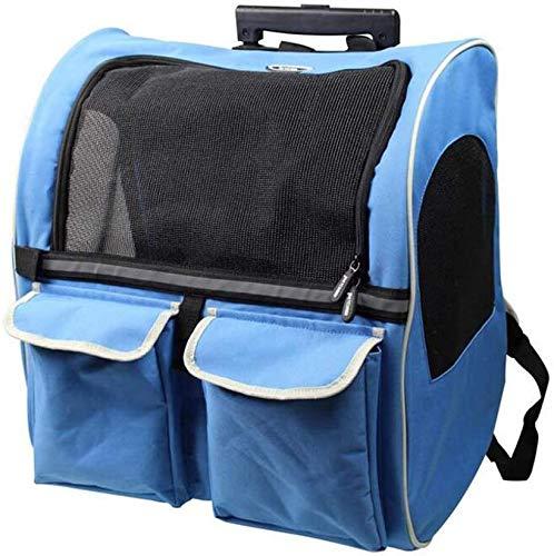 zhangchao Elemento portante dell'animale Domestico Portatile dello Zaino/Animale Ruote Traspirante Borsa/Animale Carry Bag (per Gli Animali Domestici Fino a 10 kg)