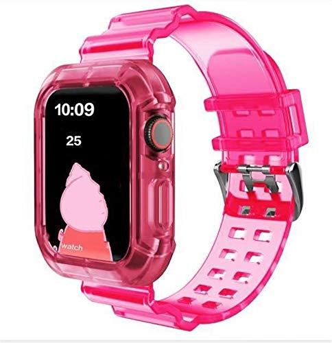 ZLRFCOK La Correa Deportiva más Nueva para la Serie de Banda de Reloj de Apple 6 1 2 3 4 5 Transparente de Silicona para iWatch 5 4 Strap 38mm 40mm 42mm 44mm Wirst