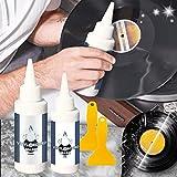 Removedor de crujidos de Vinilo de 2 Piezas, Limpiador de Audio, Limpiador de álbumes, Kit de Limpieza de Discos de Vinilo, Elimina eficazmente la Suciedad, el Polvo y Las Huellas Dactilares