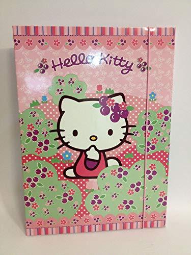 Hello kitty rosa carpetta con elastico