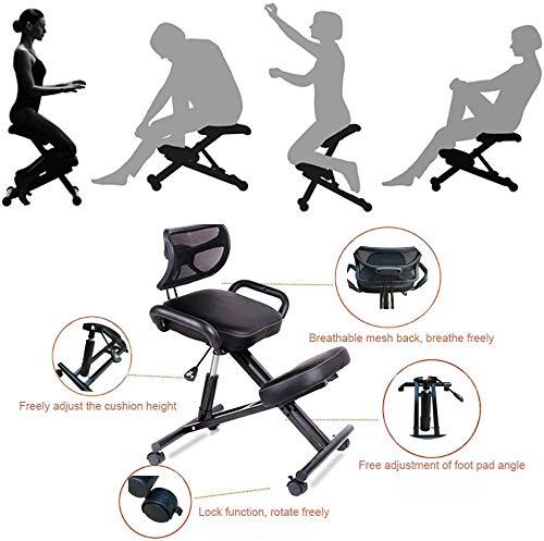 Kneelstoel QIQIDEDIAN Ergonomisch verstelbare stoel Ergonomische bureaustoel, promoten goede houding,5 kleuren te kiezen uit QIQIDEDIAN