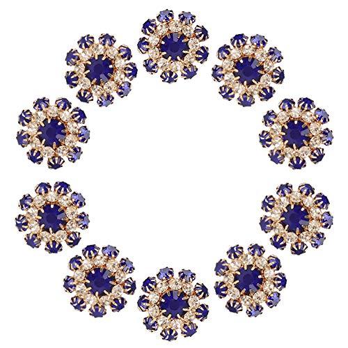 Botón de diamantes de imitación de 10 piezas, botones de metal Crytal de 2 cm, broche de hebilla, accesorios de ropa para manualidades DIY