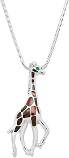 Lola Bella Gifts Giraffe Pendant Necklace with Gift Box
