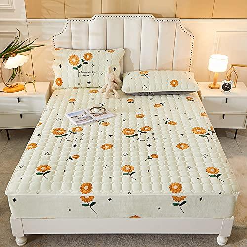 HAIBA Colcha de invierno para mantener el calor de terciopelo de cristal de algodón acolchado para cama o dormitorio, decoración suave, cómoda y gruesa, 120 x 200 cm (2 unidades)