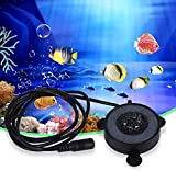 Smandy Acquario Luci, Fish Tank LED Air Stone Bubble Light con 6 Colori Che cambiano Le lampade per Acquario(AC 100-240V)