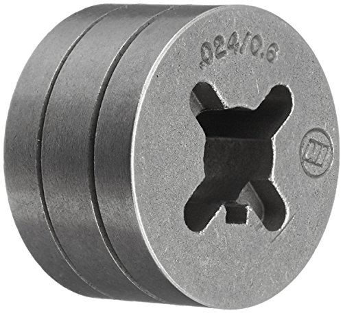Hobart 202925 0.024 and 0.030-0.035 Drive Roll V-Groove for Select Handler and Ironman Series Welders