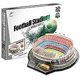 Georgie Porgy 3D Estadio de Fútbol Puzzles Juguetes de Construcción Conjuntos (NOU Camp Estadio 100pcs)