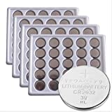 SkoTeRy 100Packs CR2032 Lithium Battery 3V cr2032 Coin Cell 230mAh Bulk