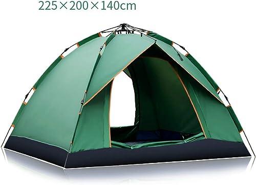 SJASD Convenable Extérieure Familiale Camping Plage Randonnée Double Couches TenteConvient pour 100% imperméable, crème Solaire, ventilée (3-4 Personnes) SUNYONGTAOTTP