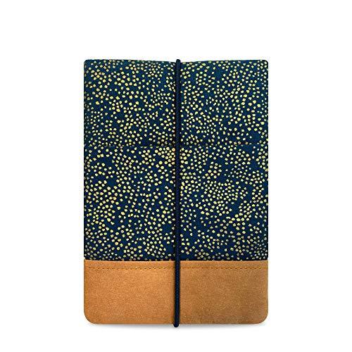 """Kuratist 6 Zoll eBook Reader Hülle - kompatibel mit 6"""" eReadern - Handgemacht aus Baumwolle und Papierleder (100% vegan) (auch geeignet für Tolino Shine 2/3 HD/Vision 2/3/4 HD), Champagne Night"""