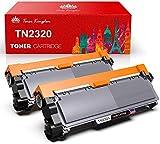 Toner Kingdom 2 Pack Cartucho de tóner Compatible Brother TN2320 para su Uso en Brother HL-L2300D HL-L2320D HL-L2340DW HL-L2360DN HL-L2360DW HL-L2365DW HL-L2380DW DCP-L2500D DCP-L2520DW DCP-L2540DN