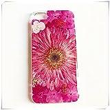 heng yuan tian cheng Real marguerite coque de téléphone portable, Fleur pressée, Transparent...