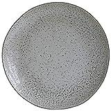 House Doctor Hc0800 - Plato llano, diseño rústico, Gris, Dia: 27,5 cm, H.: 2,8 cm