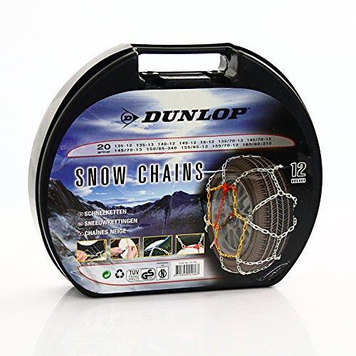 Dunlop 55136 Chaînes à Neige Groupe 20 12 mm