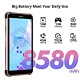 Rugged Mobile Phone,Blackview BV6600 Rugged Smartphones Android 10,4G Dual SIM Rugged Phone,8580mAh Battery,5.7 inch HD+,4+64GB(SD 128GB),Octa-Core Processor,16MP+8MP Camera,NFC/Face ID/OTG/GPS-Orange