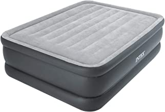 Intex Queen Size Essential Rest Raised Airbed with Fiber-Tech Technology and Built-in Electric Pump - 64140