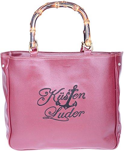Küstenluder Damen Handtasche Lianna Anker Shopper Maroonfarben