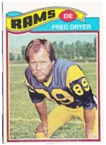 Fred Dryer football card (Los Angeles Rams Hunter) 1977 Topps #513