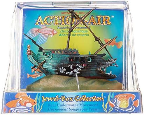 Penn-Plax Action-Air Jewel Box Shipwreck Aquarium Ornament