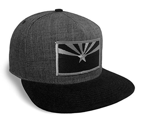 Arizona State Flag Black and Grey Classic Baseball Cap Flat Brim Hat Snapback