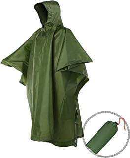 Andy Yeatese Portable Rain Poncho with Hood Waterproof Hiking Raincoat for Men and Women Outdoor