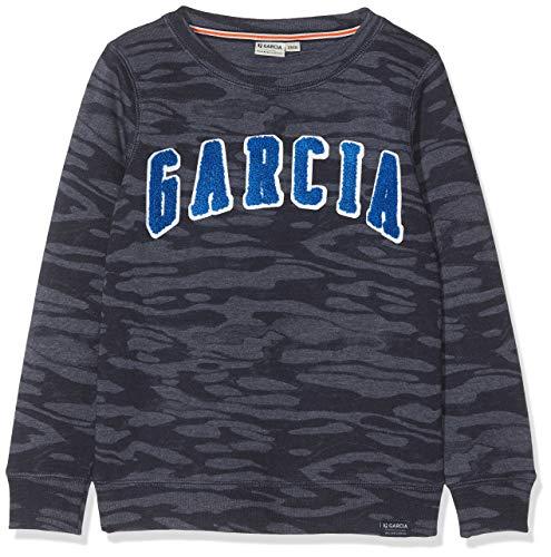 Garcia Kids Jungen H95660 Sweatshirt, Blau (Dark Moon 292), 128 (Herstellergröße: 128/134)