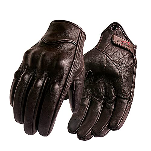 Motorcycle gloves men's touch screen leather bike gloves for riding full-finger motorcycle motorcycle off-road motorcycle