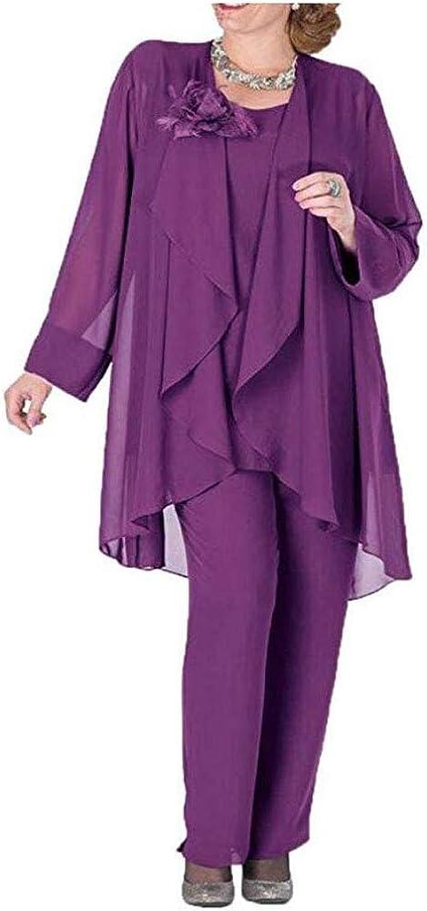 Botong Women's Pants Suit 3 Pieces Dress Suit For Mother Of The Bride Evening Gowns