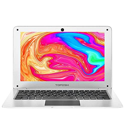 TOPOSH 10.1Inch Kids Laptop Windows 10 PC Notebook Computer 4GB RAM+64GB SSD Intel Atom X5-Z8350 Quad-Core Graphics 1.44 GHz with US Keyboard WiFi Bluetooth