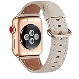 WFEAGL Bracelet Compatible avec Bracelet Watch 38mm 40mm en Cuir Véritable, Multi-Couleur...