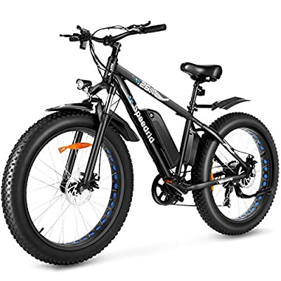 "Speedrid Electric Bike Fat Tire Electric Bike 26"" 4.0, 500W Powerful Motor, 48V 10Ah Removable Battery and Professional 7 Speed"