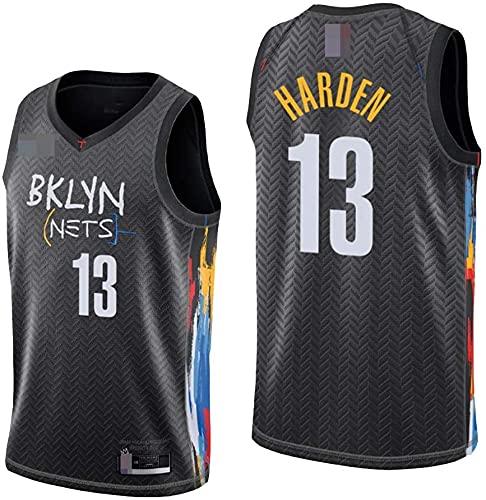 XUECHEN Ropa Jerseys de Baloncesto para Hombres, NBA Brooklyn Nets # 13 James Harden, Comfort Classic Chalecos Transpirables Camiseta Uniformes Deportivos Tops, Negro, XXL (185~195cm)