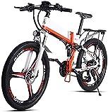Bicicletas Eléctricas, Adulto plegable bicicleta eléctrica, 350W portátil de aleación de aluminio de la montaña bicicleta eléctrica, la batería de litio y 48V10AH GPS, doble freno de disco 21 de veloc